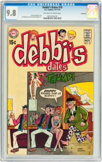 Debbi's Dates #10 Savannah pedigree (DC, 1970) CGC NM/MT 9.8 Off-white to white pages