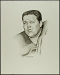 Football Collectibles:Others, 1960's Ron Kostelnik Williams Advertising Rare Oversized Green Bay Packers Print....