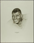 Football Collectibles:Others, 1960's Dave Robinson Williams Advertising Rare Oversized Green Bay Packers Print....