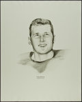 Football Collectibles:Others, 1960's Tom Brown Williams Advertising Rare Oversized Green Bay Packers Print....