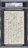 Autographs:Index Cards, Circa 1940 Joe Kelley Handwritten & Signed Autobiography Index Card....