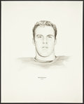 Football Collectibles:Others, 1960's Bob Hyland Williams Advertising Rare Oversized Green Bay Packers Print....