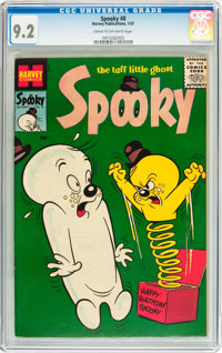 Spooky #8 (Harvey, 1957) CGC NM- 9.2 Cream to off-white pages