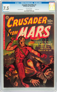 Crusader from Mars #1 (Ziff-Davis, 1952) CGC VF- 7.5 Off-white pages