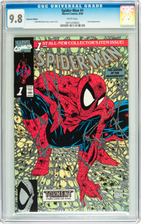 Spider-Man (1990 series) #1 Platinum Edition (Marvel, 1990) CGC NM/MT 9.8 White pages