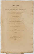 Books:Americana & American History, Letter from the Secretary of the Treasury, Transmitting, Pursuantto a Permanent Order of the House of Representatives, of 3d ...