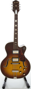Musical Instruments:Electric Guitars, 1960's Harmony H-68 Sunburst Archtop Electric Guitar....
