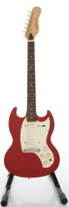 Musical Instruments:Electric Guitars, 1967 Kalamazoo Melody Maker Style Cardinal Red Solid Body ElectricGuitar, Serial #005392....