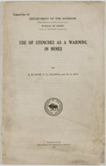 Books:Americana & American History, S. H. Katz, V. C. Allison, and W. L. Egy. Use of Stenches as aWarning in Mines. Washington: Government Printing Off...