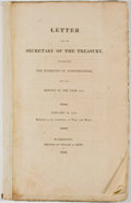 Books:Americana & American History, Letter from the Secretary of the Treasury, Transmitting theEstimates of Appropriations, for the Service of the Year 1816. W...