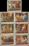 "Movie Posters:Adventure, Escape to Burma (RKO, 1955). Lobby Cards (7) (11"" X 14"").Adventure.. ... (Total: 7 Items)"