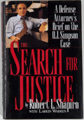 Books:Americana & American History, Robert L. Shapiro. INSCRIBED. The Search for Justice. [NewYork]: Warner Books, [1996]. Fifth printing. Inscribed ...