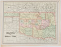 Books:Maps & Atlases, Color Map of Oklahoma and Indian Territories. [ca. 1892]. Measures 10.75 x 14.5 inches. Minor toning to edges. Very good....