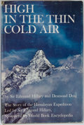 Books:Travels & Voyages, Edmund Hillary and Desmond Doig. High in the Thin Cold Air: The Story of the Himalayan Expedition. Garden City: Doub...