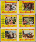 "Movie Posters:Adventure, King of the Khyber Rifles (20th Century Fox, 1954). Lobby Cards (6)(11"" X 14""). Adventure.. ... (Total: 6 Items)"