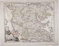 Books:Maps & Atlases, Giacomo Cantelli Vignola. Striking Engraved Map of Macedonia, with Hand-Coloring. Rome: de Rossi, 1684. 18.75 x 24.25 inches...