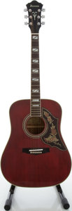 Musical Instruments:Acoustic Guitars, Late 1970's Ibanez F-300CW Wine Red Acoustic Guitar, Model#82030193....
