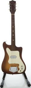 Musical Instruments:Electric Guitars, 1960's Kay Vanguard Sunburst Solid Body Electric Guitar....