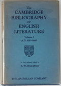 Books:Reference & Bibliography, F. W. Bateson [editor]. The Cambridge Bibliography of EnglishLiterature. Volumes I-IV. New York: MacMillan, 194... (Total: 4Items)