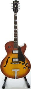 Musical Instruments:Electric Guitars, Circa Late 1970's Ibanez ES-175 Cherryburst Semi-Hollow BodyElectric Guitar...
