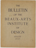 Books:Art & Architecture, Group of 24 Issues of The Bulletin of the Beaux-Arts Institute of Design. New York: Beaux-Arts Institute of Desi...