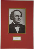 Autographs:Celebrities, Phineas T. Barnum Clipped Signature....