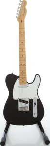Musical Instruments:Electric Guitars, 1995 Fender Telecaster USA Black Solid Body Electric Guitar, Serial#N541015....