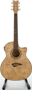 Musical Instruments:Acoustic Guitars, Dean EQA Natural Acoustic Electric Guitar, Serial #08157366....