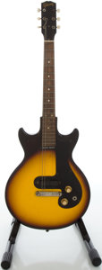 Musical Instruments:Electric Guitars, 1964 Gibson Melody Maker 3/4 Sunburst Solid Body Electric Guitar, Serial #165839....