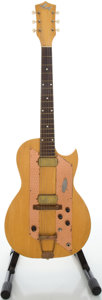 Musical Instruments:Electric Guitars, 1960's Kay Speed Demon Natural Solid Body Electric Guitar....