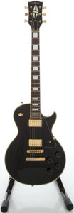 Musical Instruments:Electric Guitars, Late 1970's Gilbert LP Copy Black Solid Body Electric Guitar...