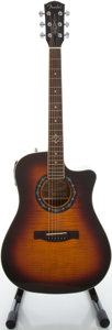 Musical Instruments:Acoustic Guitars, Fender T-Bucket 300CE Sunburst Acoustic Electric Guitar, Serial#09004729....