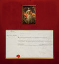 Autographs:Non-American, Marie Thérèse Document Signed with Secretarial Signature....