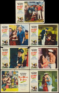 "Movie Posters:Adventure, Fair Wind to Java (Republic, 1953). Title Lobby Card and LobbyCards (6) (11"" X 14""). Adventure.. ... (Total: 7 Items)"