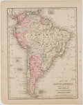 Books:Maps & Atlases, Wonderful Engraved and Hand-Colored Map of South America. FromMitchell's New Intermediate Geography. [Philadelphia: But...