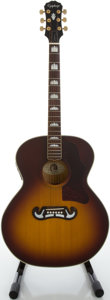 Musical Instruments:Acoustic Guitars, Epiphone EJ-200VS Sunburst Acoustic Guitar, Serial #Y207450....