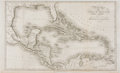 Books:Maps & Atlases, Striking Engraved Map of the Gulf of Mexico. London: T. Cadell, 1821. Measures 11 x 18.5 inches. Four fold lines. Mild tonin...