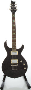 Musical Instruments:Electric Guitars, Dean I CON Trans Black Solid Body Electric Guitar, Serial#E070363....