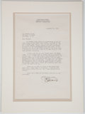Autographs:Artists, James Earle Fraser Typed Letter Signed....