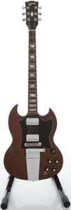 Musical Instruments:Electric Guitars, Circa: 1971 Gibson SG Refinished Solid Body Electric Guitar, Serial#923878....