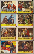 "Movie Posters:Western, Stagecoach (Masterpiece, R-1948). Lobby Card Set of 8 (11"" X 14"").Western.. ... (Total: 8 Items)"