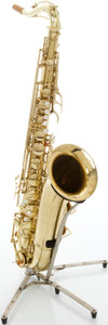 Musical Instruments:Horns & Wind Instruments, Circa 1973 Conn Naked Lady Brass Tenor Saxophone, Serial #357625....