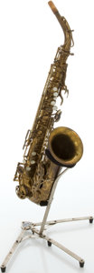 Musical Instruments:Horns & Wind Instruments, 1937 Selmer Balanced Action Brass Alto Saxophone, Serial #23811....