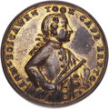Betts Medals, Betts-408. 1758 Boscawen at Louisbourg. Pinchbeck. Choice AboutUncirculated. ...