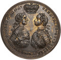 Betts Medals, Betts-425. 1759 British Commanders. Pinchbeck. About Uncirculated....