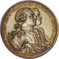 Betts Medals, Betts-443. 1762 Morro Castle. Silver, gold-washed. Extremely Fine....