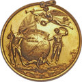 Betts Medals, Betts-410. 1758 Louisbourg Taken. Gold, with original hanger.Choice About Uncirculated. ...