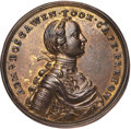 Betts Medals, Betts-404. 1758 Boscawen at Louisbourg. Pinchbeck. AboutUncirculated....
