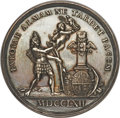 Betts Medals, Betts-442. 1762 Peace of Europe. Silver. Dies by Johann G.Holtzhey. Extremely Fine. ...