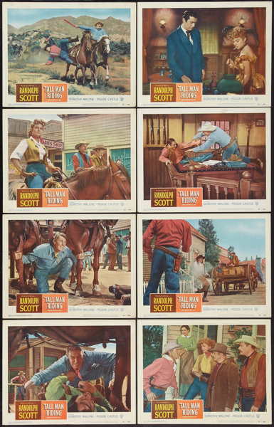 Tall Man Riding (Warner Brothers, 1955)  Lobby Card Set of 8